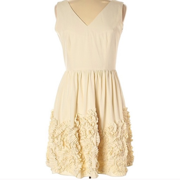 Anthropologie Dresses & Skirts - Minuet Anthropologie Ivory Dress sz L